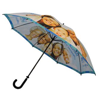 手开高尔夫广告伞30英寸8骨手开热转印单层高尔夫伞
